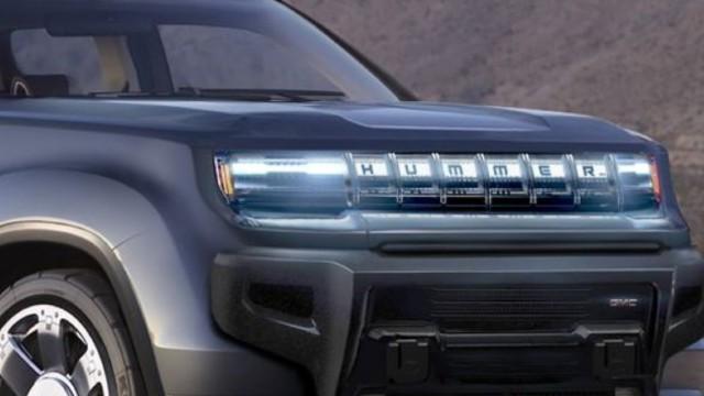 2022 GMC Hummer EV SUV grille