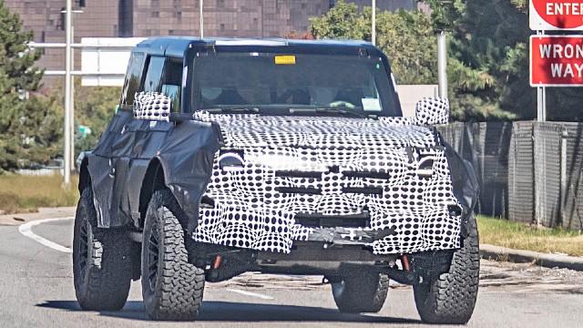 2022 Ford Bronco Raptor spied