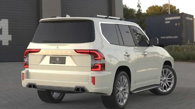 2023 Mitsubishi Pajero rendered
